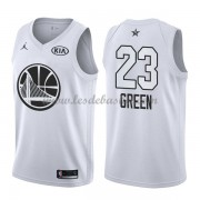 Maillot NBA Pas Cher Golden State Warriors Draymond Green 23# White 2018 All Star Game Swingman..